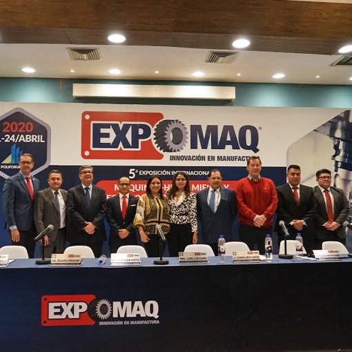 Presentan 5ª Edición EXPOMAQ 2020 a realizarse en León, Guanajuato